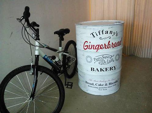 Tambor decoração Gingerbread (Tiffany´s ) Tampa remov. sem alças-G