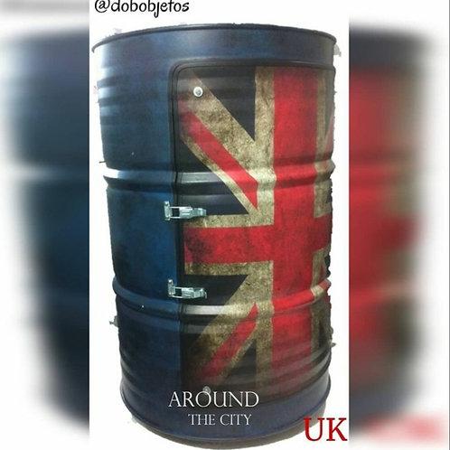 Tambor Armário Reino Unido Azul