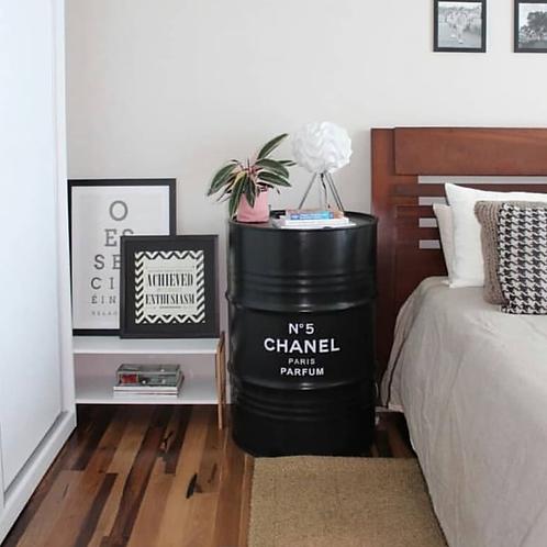 Tambor Chanel n. 5 (Preto) - Tampa rem.,  sem alças - G com rodízios