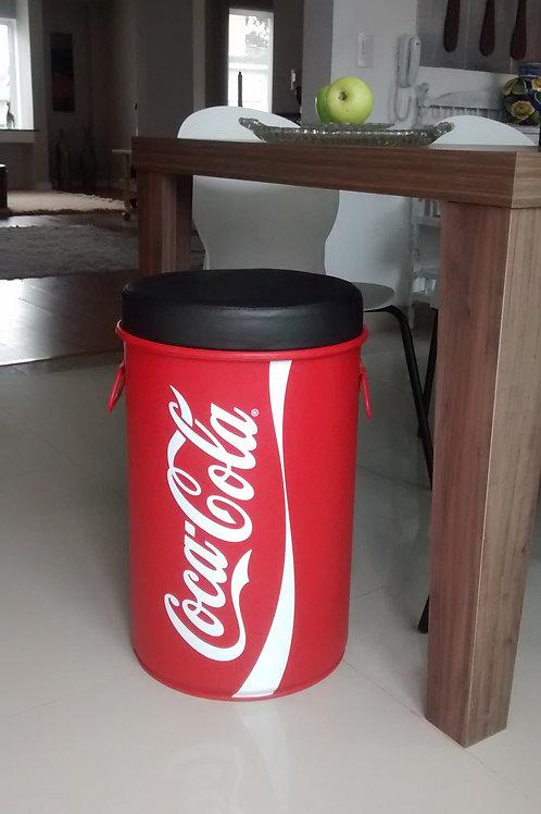Tambor Decorado Coca-Cola  com puff -Alças - M