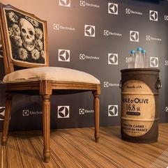 Tambor decorativo vintage no evento da Electrolux