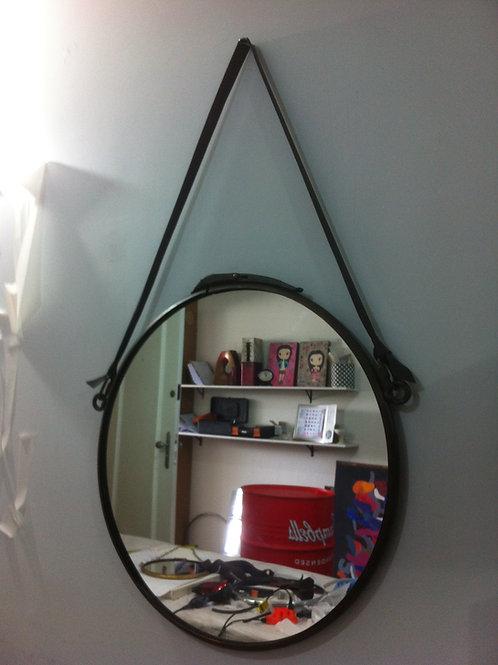 Espelho Industrial 30 cm de diâmetro Bronze Envelhecido