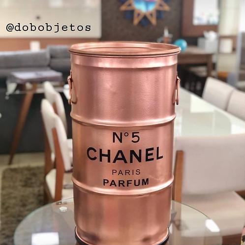 Tambor decorativo P Chanel Rose Gold - Tampa de Madeira