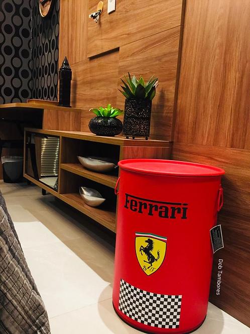 Tambor Ferrari ( Vermelho) -Tampa removível c/ alças- M