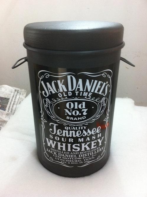 Tonel decorado Jack Daniels Tampa remove, alças e puff -  M