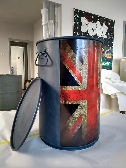 Tambor Tonel decorativo - Reino Unido M Alças
