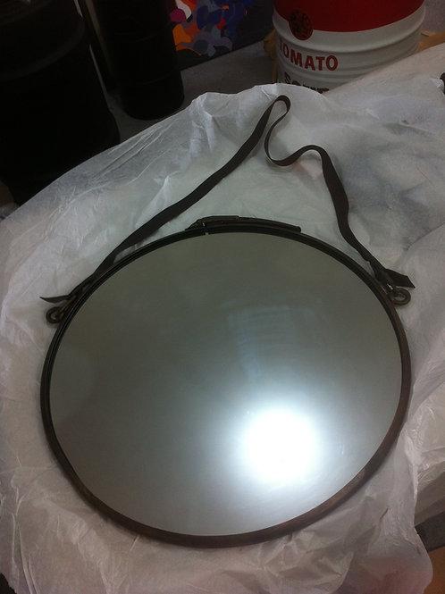 Espelho Industrial  37 cm diâmetro Moldura Bronze Envelhecido