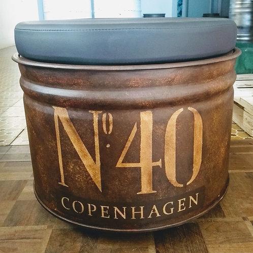 Tambor com Puff - Copenhagen - Com Rodízios