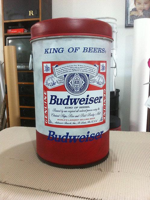 Tonel Decorado Budweiser  Puff  - M