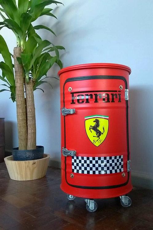 Tambor armário bar Ferrari - M com rodízios Cor Vermelho