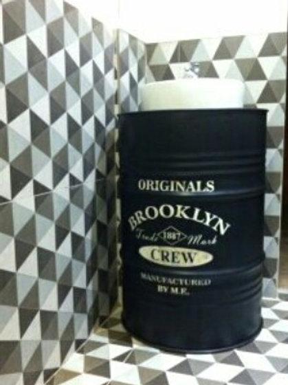 Pia de Tambor 200 litros com Cuba de Cerâmica Esmaltada - Brooklyn