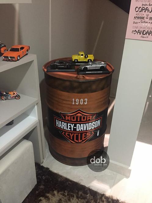 Barril decorativo Harley-Davidson G - Tampa rem.,  sem alças - G
