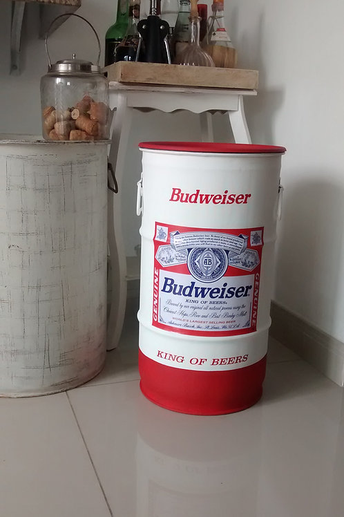 Tambor Budweiser - Tampa removível e alças. P