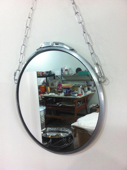 Espelho Industrial 60 cm diâmetro - Aço Escovado