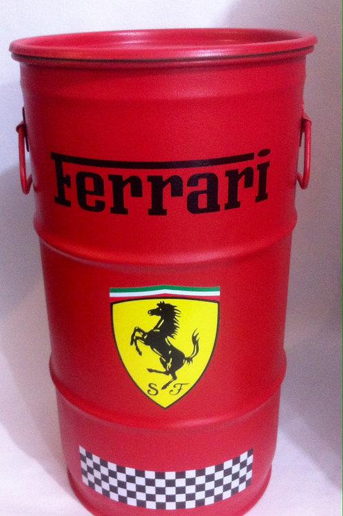 Tambor decorativo Ferrari  ( Vermelho) - Tampa removível e alças. P