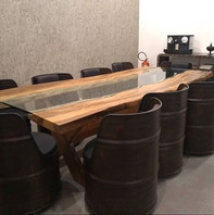 Poltronas de tambor para reuniões