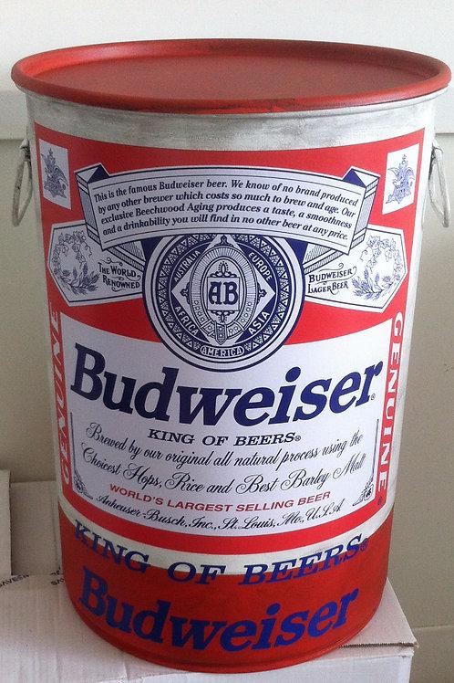 Tonel Budweiser -Tampa removível -Alças - M