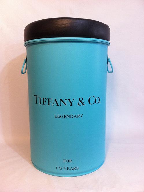Tonel TIFFANY & CO. - Tampa remove, alças e PUFF - M