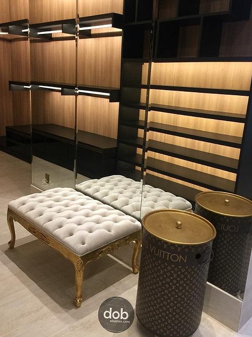 Tambor decoração Louis Vuitton M + rodizios