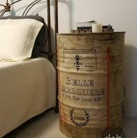 Tambor vintage, com tampa destacável