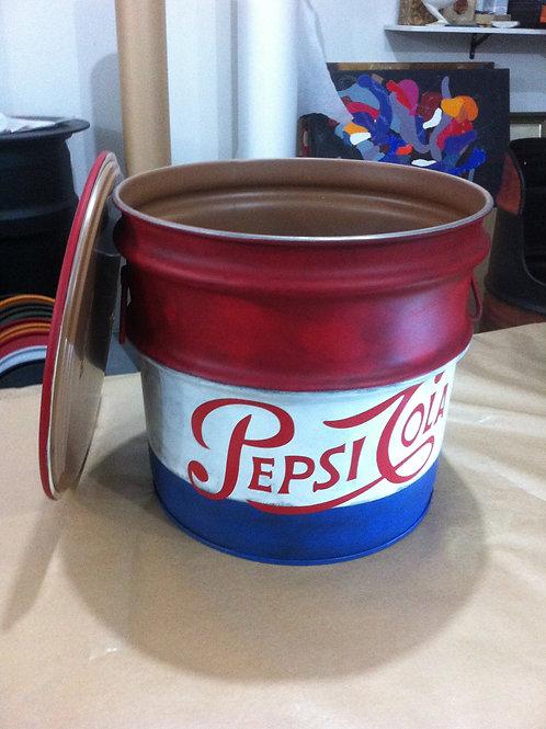 Tambor decorado Pepsi - PP - Puff
