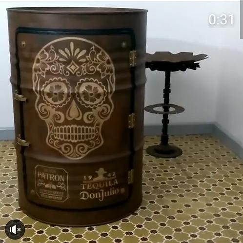 Tambor Armário Bar Caveira mexicana