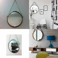 Espelhos redondos de aros de tambor
