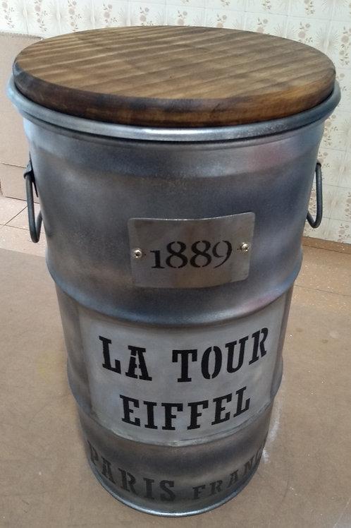 Barril Decorativo La Tour Eiffel - P - Tampa de madeira