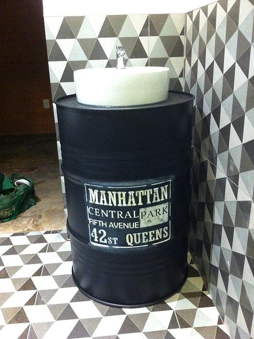 Pia de Tambor 200 litros com Cuba de Cerâmica Esmaltada - Manhattan