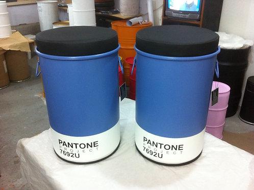 Tonel Decorativo Pantone 7692U  Azul - Puff