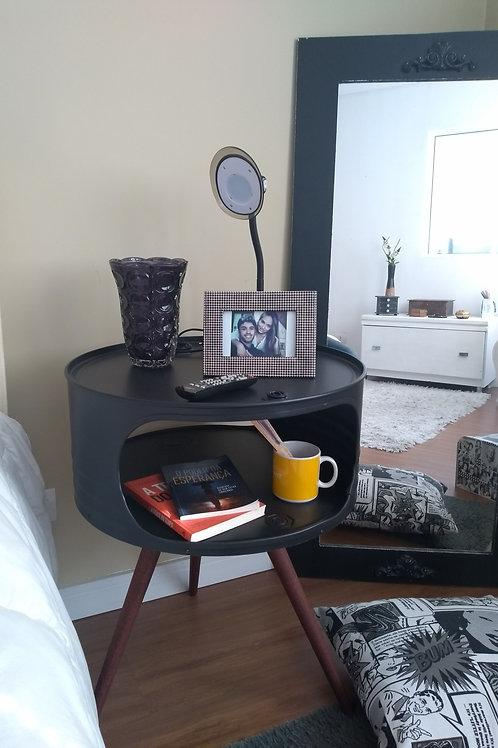 Mesa  de tambor com pé palito - Aparador  de cabeceira ou sofá