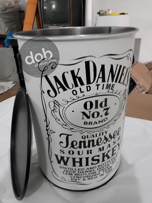 Tambor Personalizado Jack Daniels Branco PUFF - M