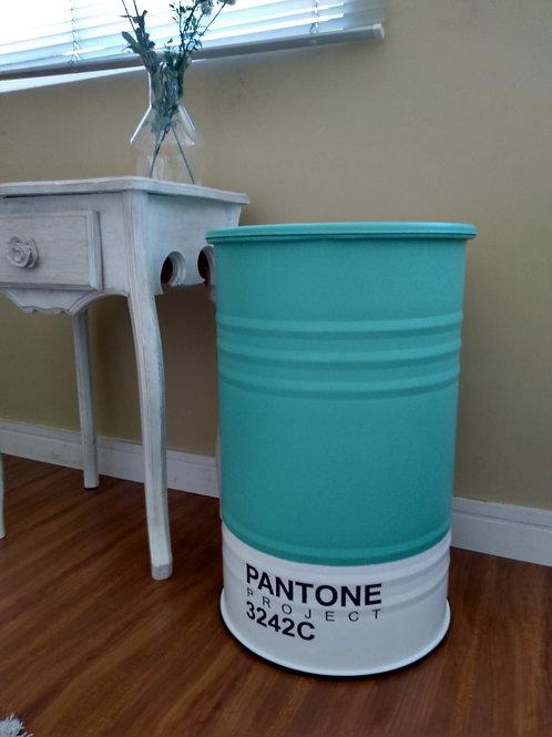 Tambor de decoração  Pantone 3242C  tamanho M Frisado