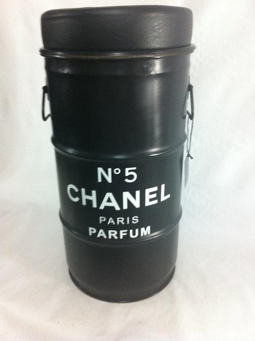 Tambor Chanel n. 5 Preto - P com PUFF