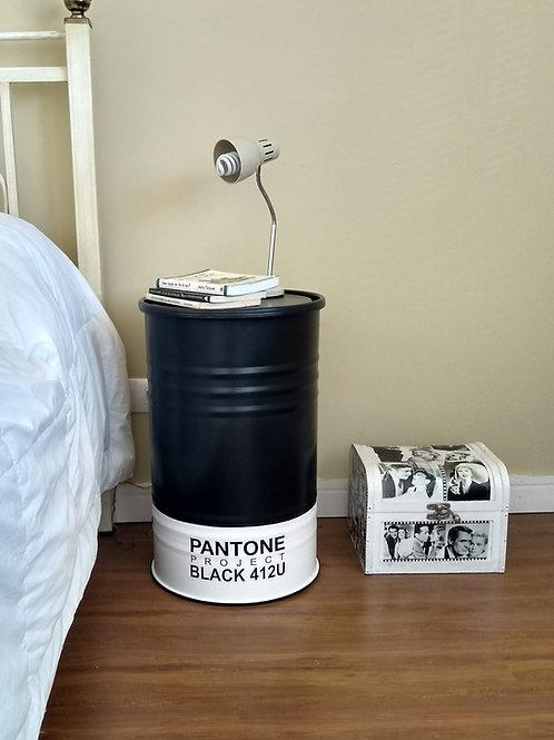 Tambor  decorado Pantone Black   tamanho M Frisado