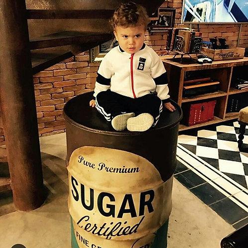 Tambor Decorativo Sugar- Tampa removível, sem alças - G