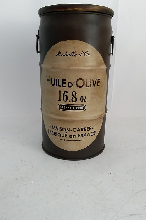 Huile d´ Olive (Escuro) - Tampa de madeira   e Alças -P