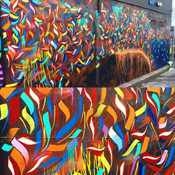 Street art piece on Bond St