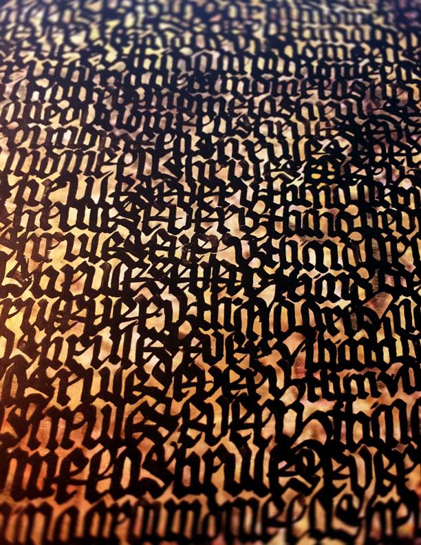 Blackletter on Print