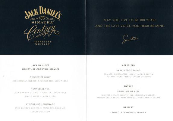 Sinatr menu