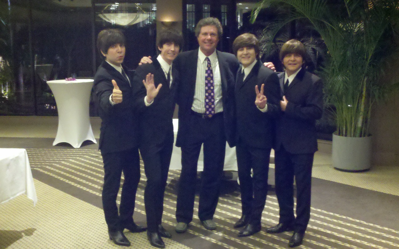 Gary with The Fab Four