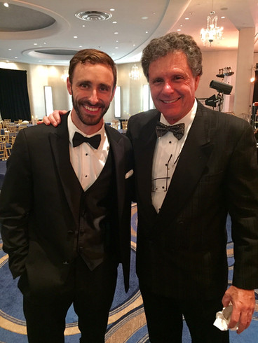 Gary with actor/host Patrick McIntyre