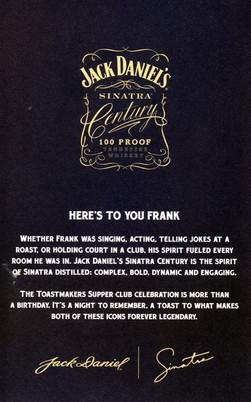 Sinatra 100 program back