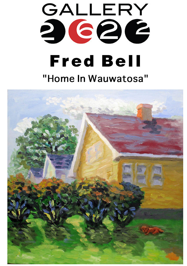 Invitation to a show of landscape paintings by Fred Bell of his hometown.