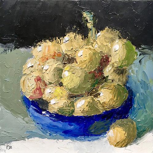 Green Grapes, Blue Bowl