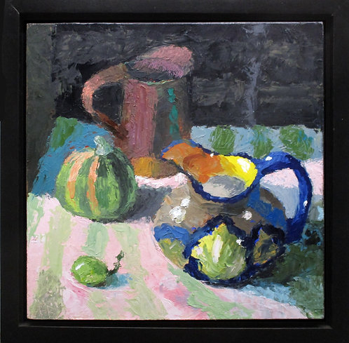 """The Quiet Day, 12x12"""" Still Life Oil Painting"""
