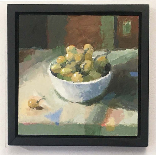 Green Green Grapes, Still Life, Original Oil Painting
