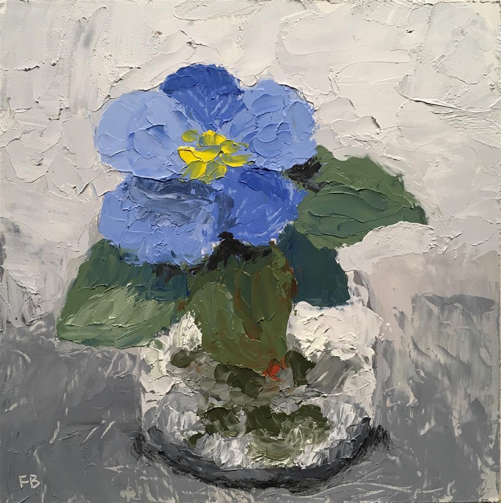 """still life, flower, painting, Grey Thursday, 6x6"""""""