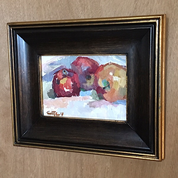 Framed Still Life painting by Brian Cote