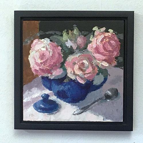 Rose, You Look Great!, Original Still Life Painting